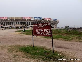 Une vue du site stade des martyrs, le long de l'avenue des huileries à Kinshasa. Radio Okapi/ Ph. John Bompengo