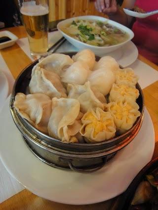 Assortiment de raviolis chinois au Restaurant Chez Xu à Lausanne