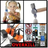 OVERKILL- 4 Pics 1 Word Answers 3 Letters
