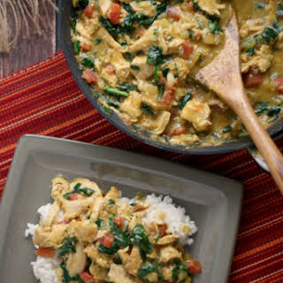 Smoked Turkey and Spinach Curry.