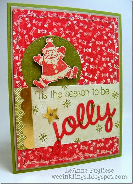 LeAnne Pugliese WeeInklings Merry Monday 105 Jolly Christmas Stampin