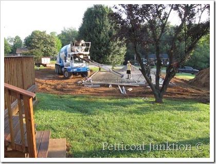 owen workshop construction concrete pad