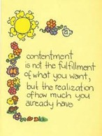 contentment-already have