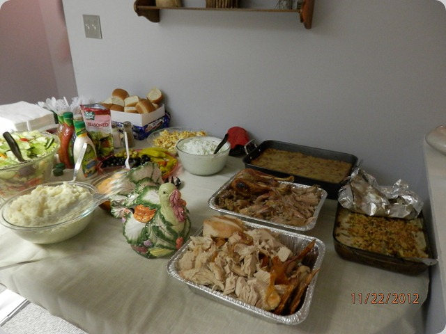Plenty of Thanksgiving Food to go around.