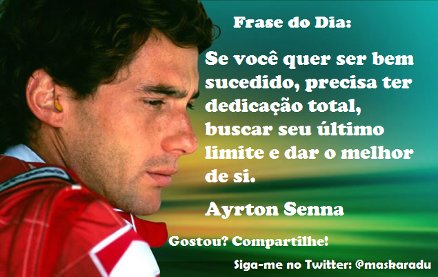 Ayrton Senna Pensador 7 Quotes Links
