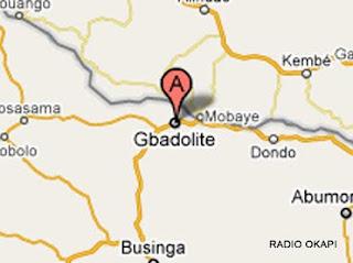 Carte Gbadolite, RDC, Radio Okapi