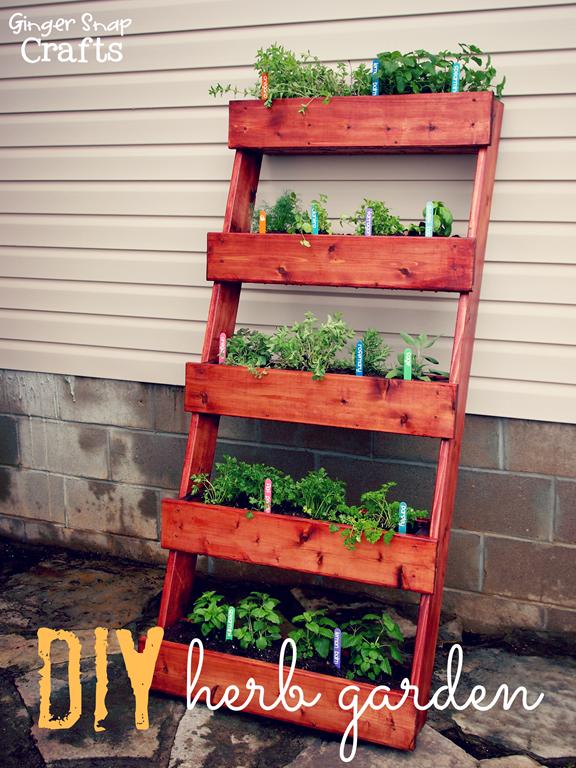 leaning ladder herb garden