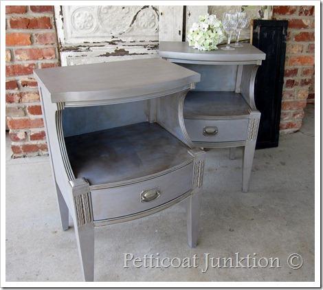 Silver Metallic Antiqued Furniture