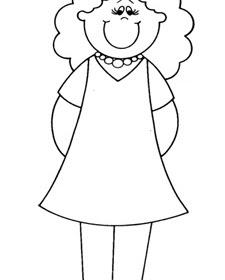 Dibujo Madre Para Colorear