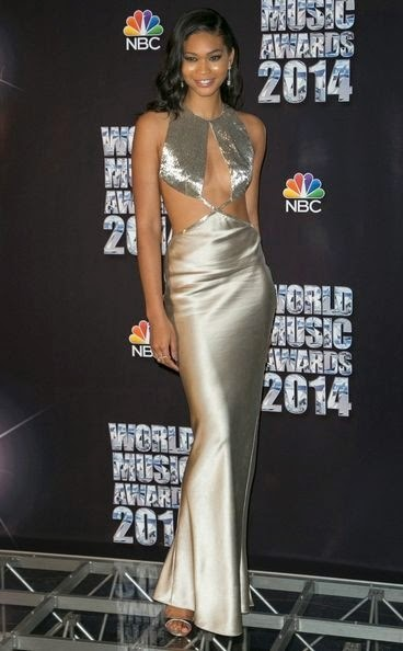 Chanel Iman arrives the World Music Awards