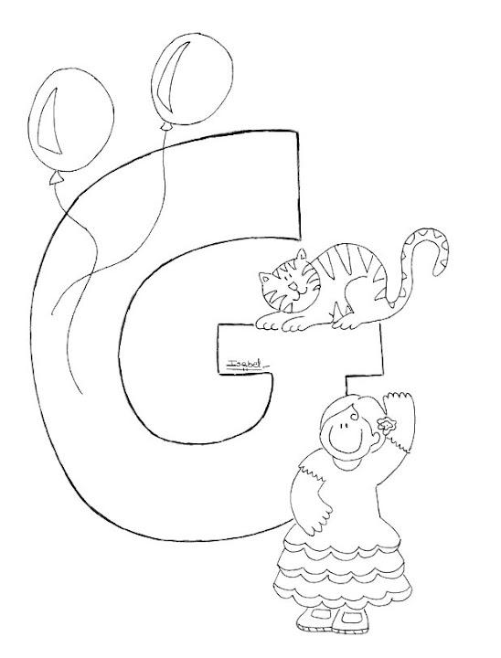 G Abecedario Profesiones Dibujalia Dibujos Para Colorear