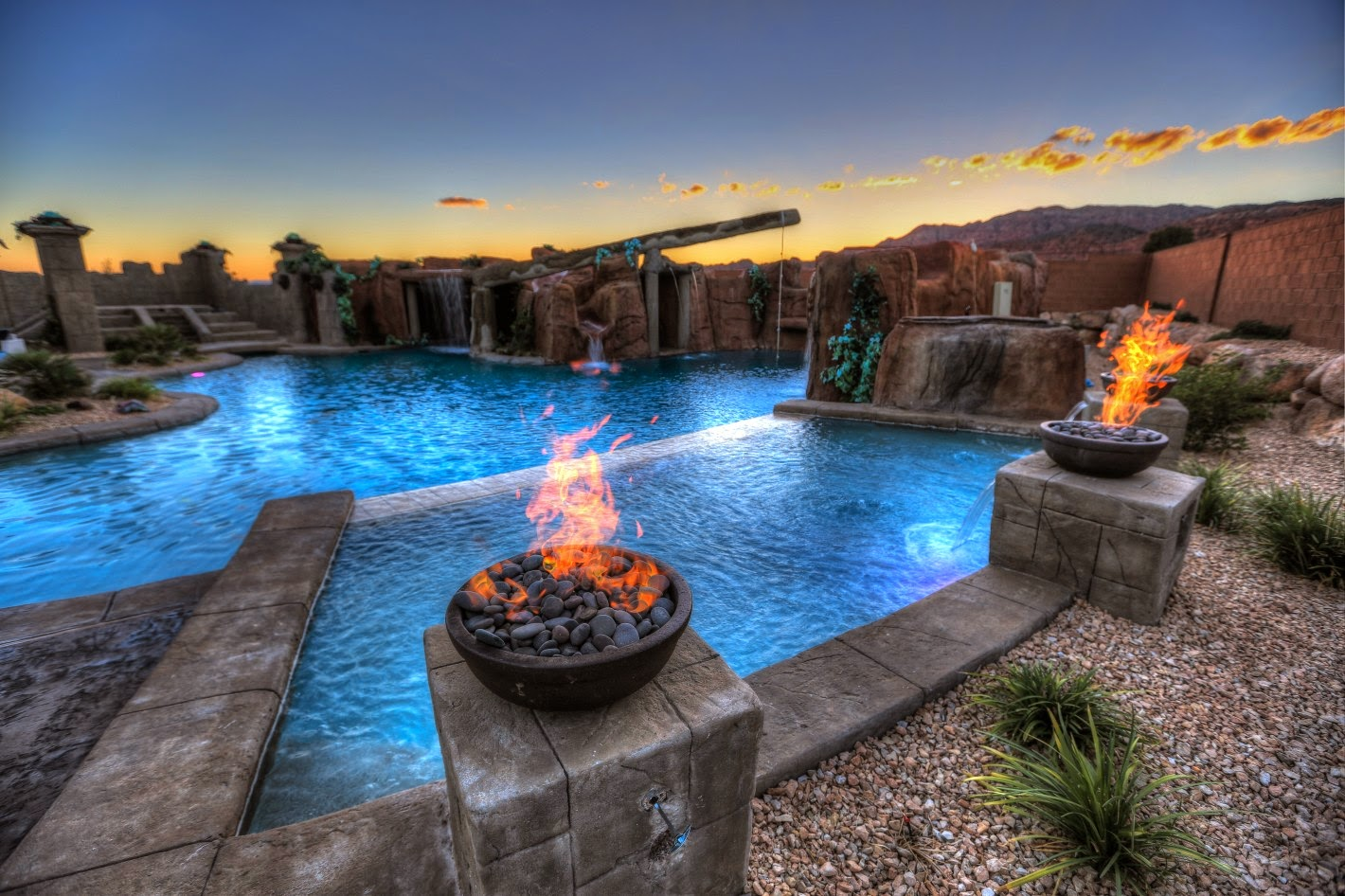 Gas Piping Tiki Torches Salt Lake Provo St George Utah Fire Pits Underground