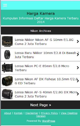 Daftar Harga Kamera
