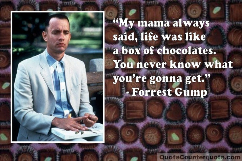 "Quote/Counterquote: ""Life is like a box of chocolates"" (or not) – the  Celebrity Edition..."