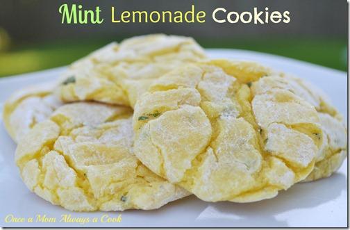 Mint Lemonde Cookies