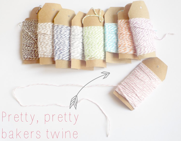 what a lovely day garland bakers twine