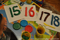 FREE Numbers and Letters Playdoh Mats