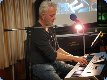 Our guest artist, Deryn Trainer, brought along a Korg keyboard, Pa3X 76 note. Photo courtesy of Dennis Lyons