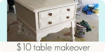 $10  table makeover