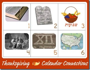Thanksgiving Calendar Connections