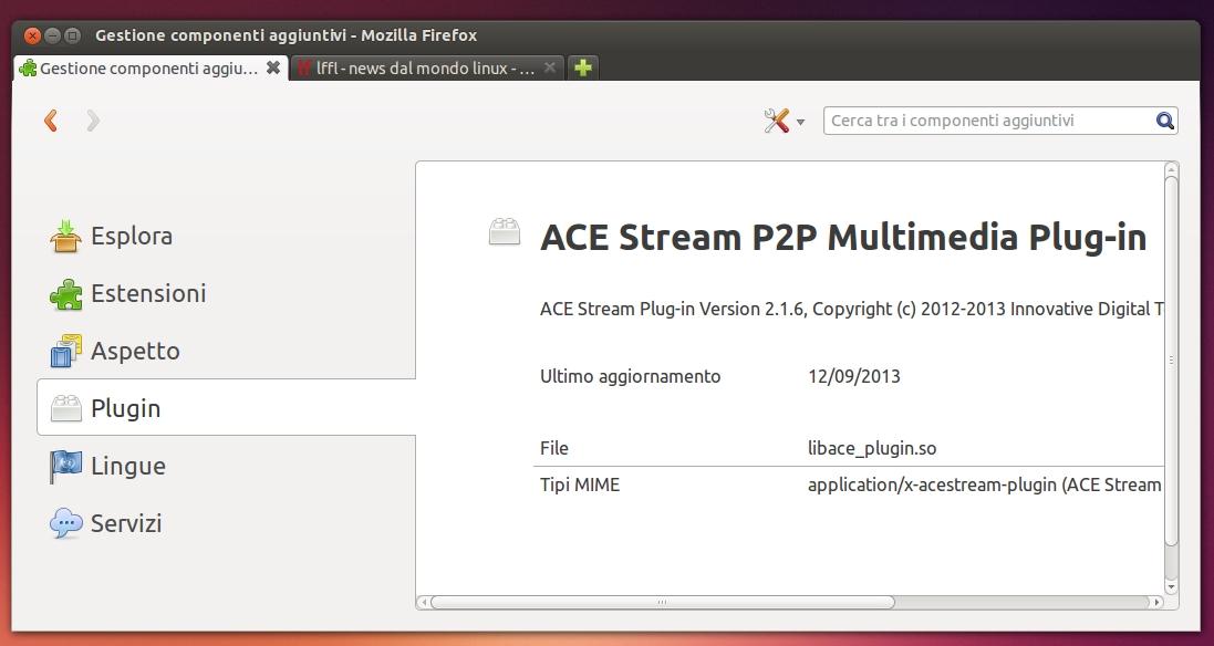 Ace stream plugin