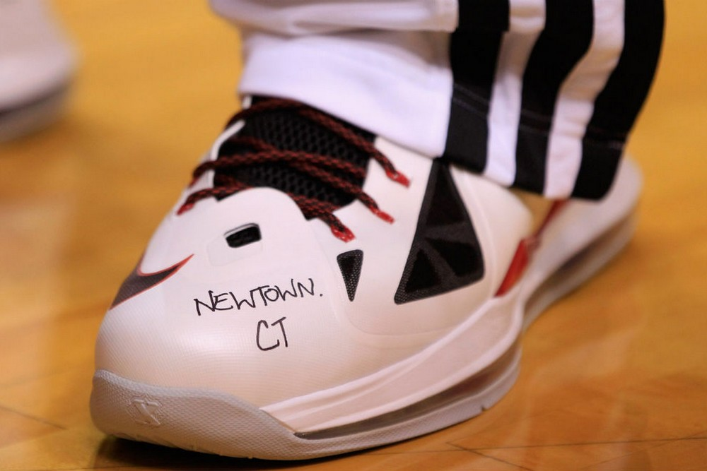 f774bd36720 LeBron s Game-worn Shoes Auctioned to Benefit Newtown Families
