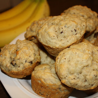 Vegan Banana Chocolate Muffins.