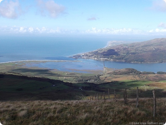 arial view of barmouth
