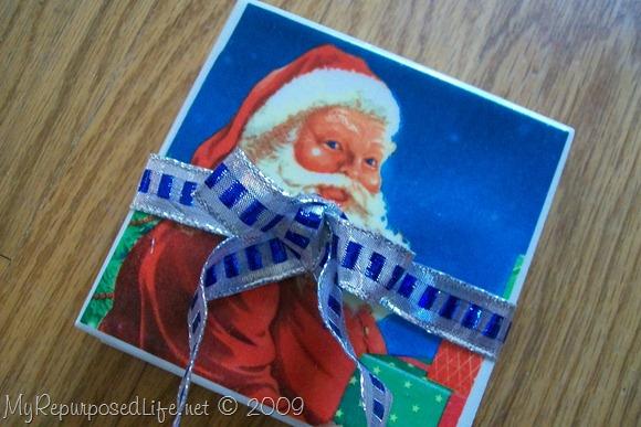 Santa Claus Christmas Napkins Coasters