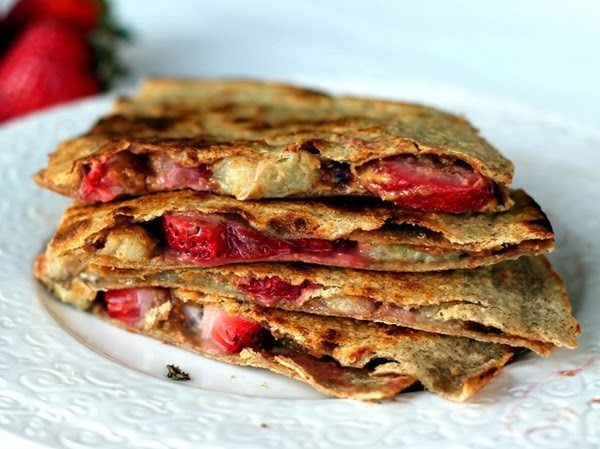 Dessert Quesadillas for camping