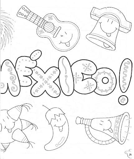 Dibujos Para Colorear De La Independencia De Mexico Para Niños Imagui