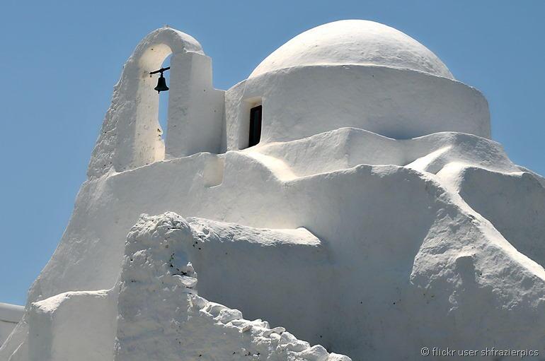 Panagia Paraportini church Mykonos by flickr user shfrazierpics