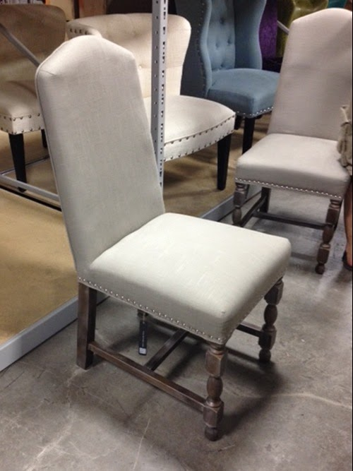 Restoration Hardware look a like chair (1/3 of the price of RH). Via MonicaWantsIt.com