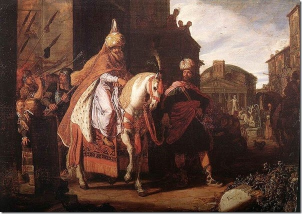 Mordechai in the streets of Persia