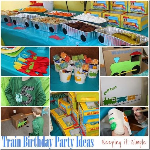 Train Boy Birthday Party Ideas Games Food Favors and Shirt Idea