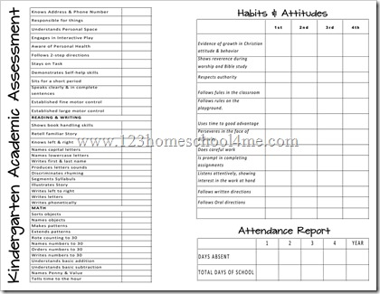 simple blank report card template