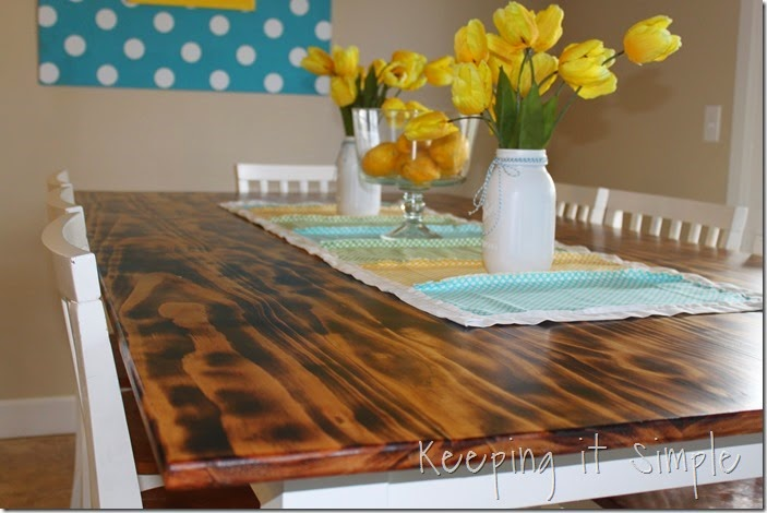 DIY-Dining-Table-With-Burned-Wood-Finish #Bernzomatic (45)