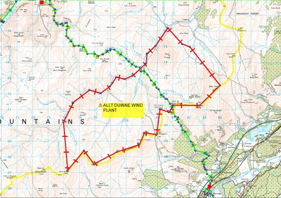 TGO CHALLENGE 2011- DAY 6- MAP