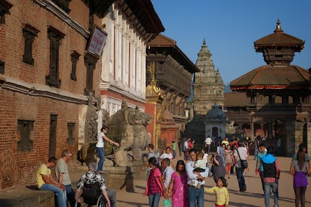 In fata palatului regal - Bhaktapur