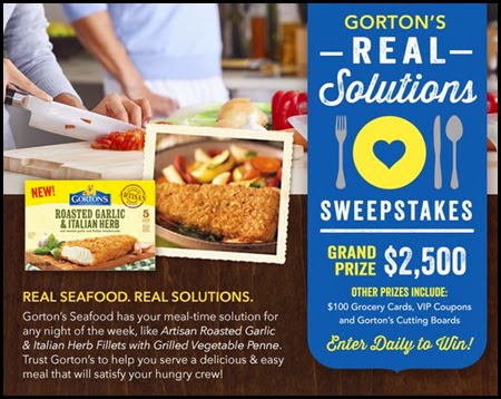 Gorton's Real Solutions Sweepstakes