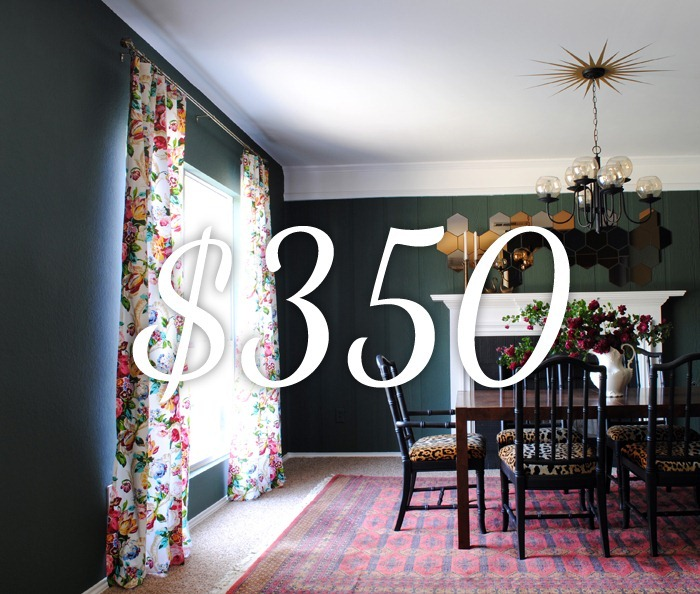 dining room makeover grand total
