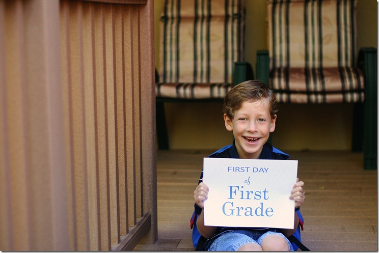 web sharp Sean's first day of 1st grade