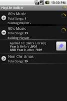 Screenshot of PlayList Builder