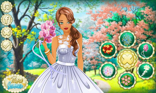 春天盛開的新娘