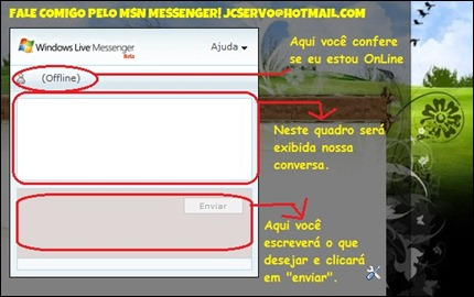 messenger no meu blog