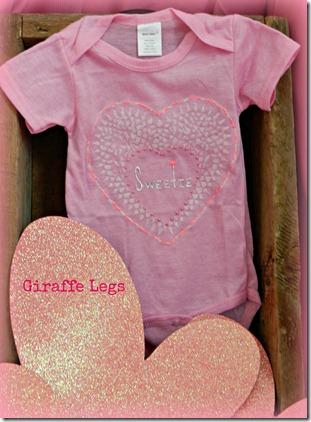 Diy baby: Valentine's Day sweet pink onesie