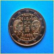 2 Euros Tratado Elíseo Francia 2013