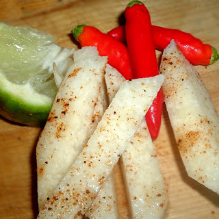 Jicama Chili Sticks recipe – 23 calories