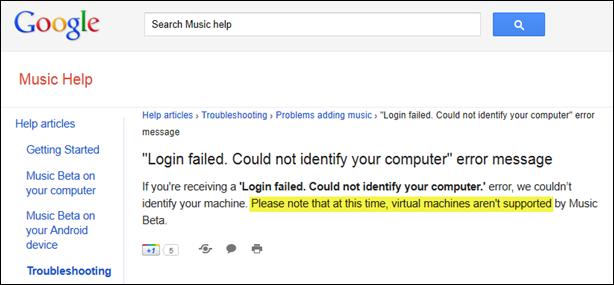 Virtual Machine Discrimination; Shame on you Google!