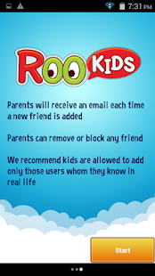 Roo Kids Chat App - náhled